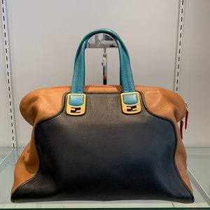 Fendi Chameleon Tricolor Duffle Bag/ Satchel